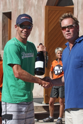 Mens open winner Dougal Allal 2nd place 2012 Coast to Coast