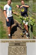 Nico and Joey vineyard with birth notice