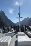 A team trip to Milford Sound - first time for our boys!