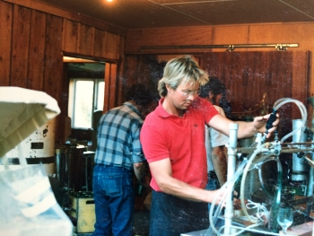 Bottling the Gibbston Valley 1987 Riesling